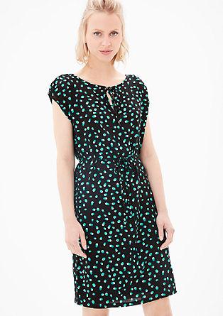 Fließendes Kleid mit Allover-Print