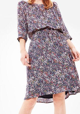 Fließendes Millefleurs-Kleid