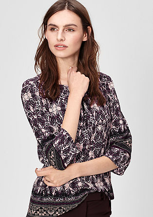 Floaty blouse with an all-over pattern from s.Oliver