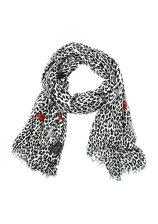 Floaty scarf with a leopard print from s.Oliver