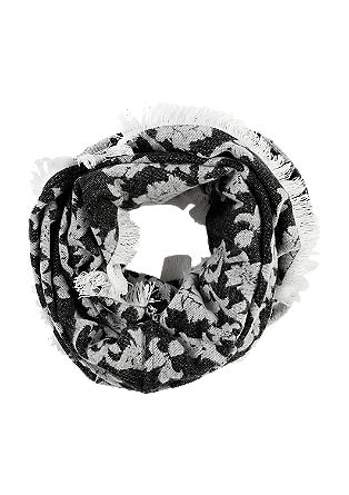 Floral jacquard snood from s.Oliver