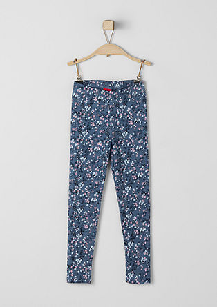 Floral jersey leggings from s.Oliver