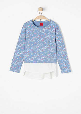 Floral top with a blouse hem from s.Oliver