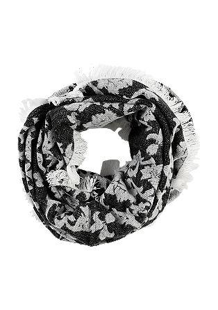 Floraler Jacquard-Loop