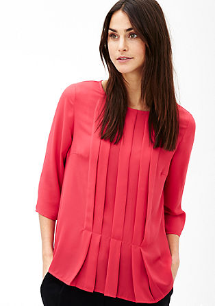 Flowing blouse with pintucks from s.Oliver