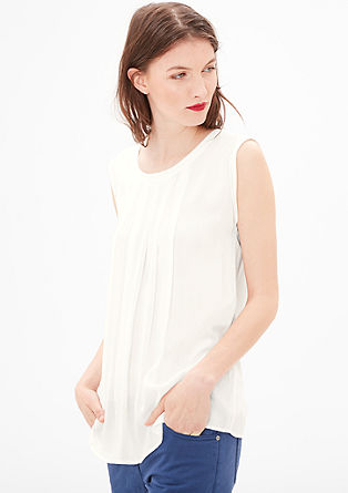 Flowing sleeveless blouse from s.Oliver