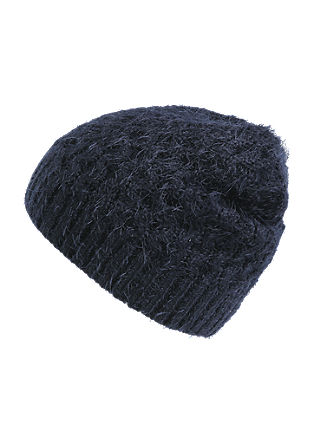 Fluffy knitted hat from s.Oliver