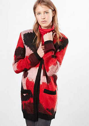 Fluffy long cardigan from s.Oliver