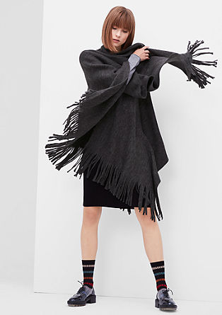Fluffy XXL poncho from s.Oliver