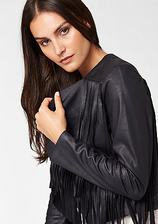 Fransen-Jacke aus Lederimitat