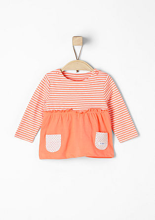 Frilled top with pockets from s.Oliver