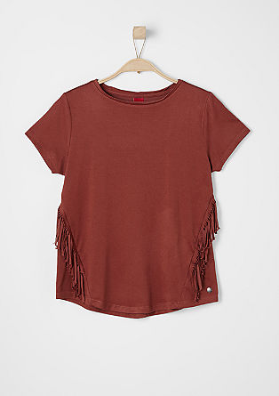 Fringed jersey top from s.Oliver