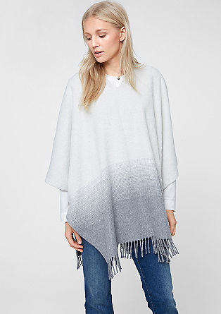 Fringed poncho in a wool blend from s.Oliver
