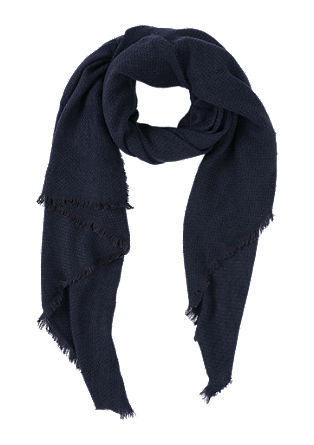 Fringed scarf with a woven pattern from s.Oliver