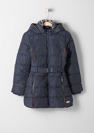 Functionele winterjas met een ceintuur