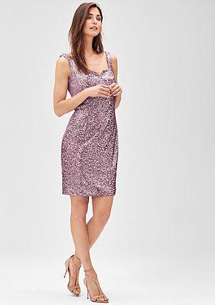 Funkelndes Pailletten-Kleid mit Mesh