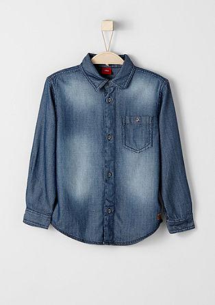 Garment Dye-Hemd mit Struktur