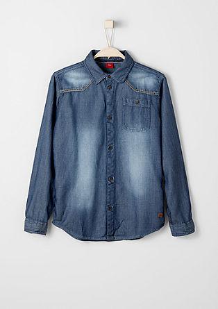 Garment-Dye Hemd mit Struktur