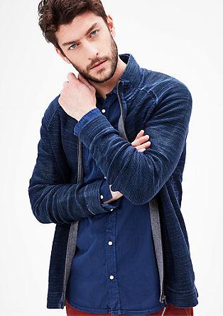 Garment Dye-Jacke mit Zipper