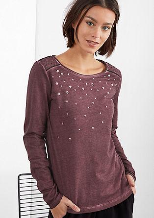 Garment Dye-Shirt mit Sternen
