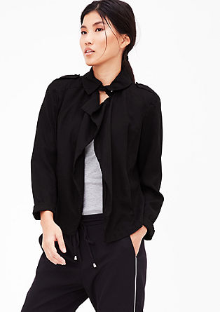 Garment-dyed blazer jacket from s.Oliver