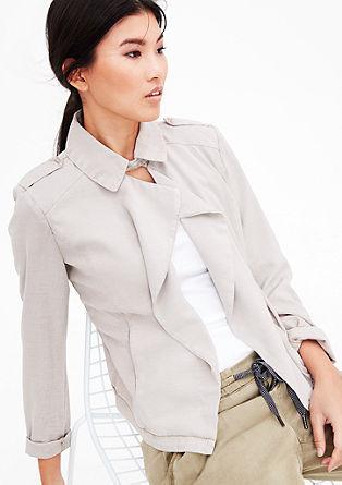 Garment-dyed jack in blazerstijl