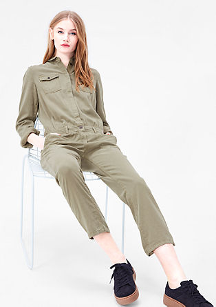 Garment-dyed jumpsuit from s.Oliver