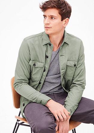 Garment-dyed overhemd van sweatstof
