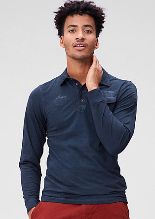 Garment-dyed polo shirt in a slim fit from s.Oliver