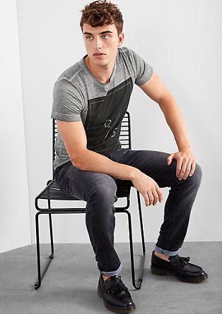 Garment-dyed print T-shirt from s.Oliver