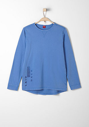 Garment-dyed T-shirt with an inside print from s.Oliver
