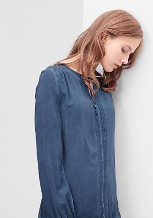 Garment dyed tuniekblouse