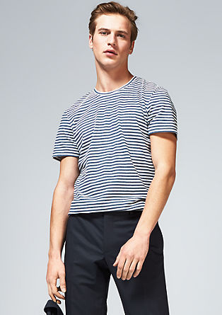 Garment-washed striped T-shirt from s.Oliver