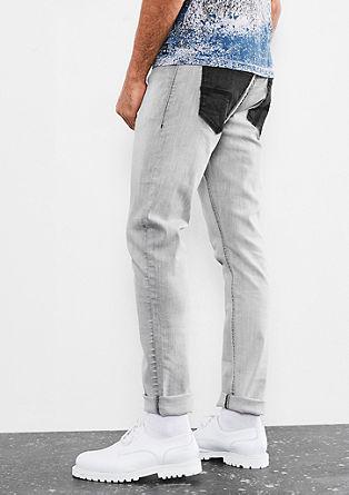 Gavin skinny: jeans met contrasten