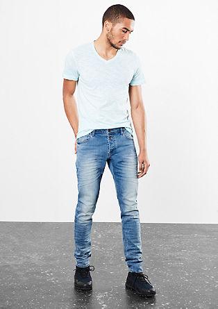 Gavin Skinny: jeans z nagubanim robom pod žepi