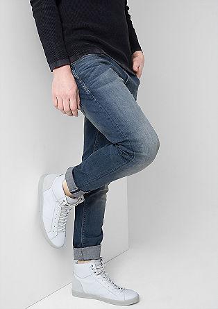 Gavin slim: slim fit jeans met een used look