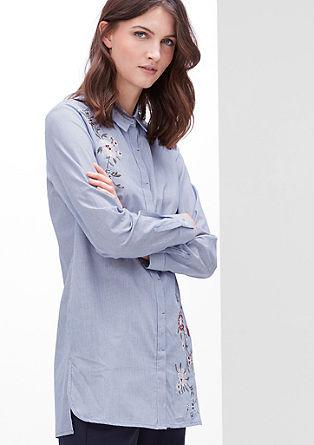 Geborduurde lange blouse