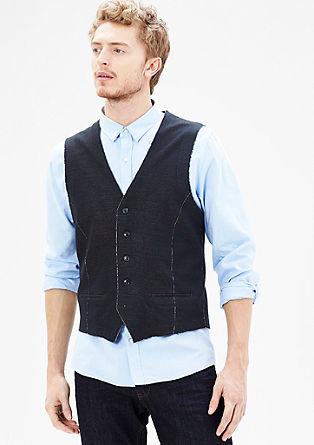 Gebreid vest met contrasten