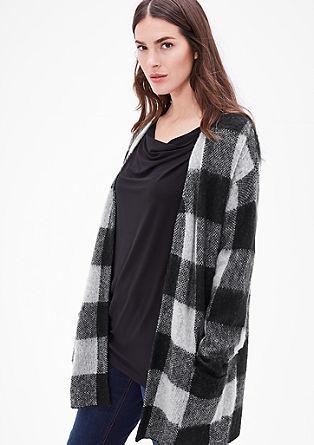Gebreid vest met wol en mohair