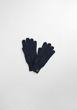 Gebreide handschoenen van een katoenmix