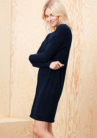 Gebreide jurk met coupenaden