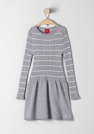 Gebreide jurk met ribdetail