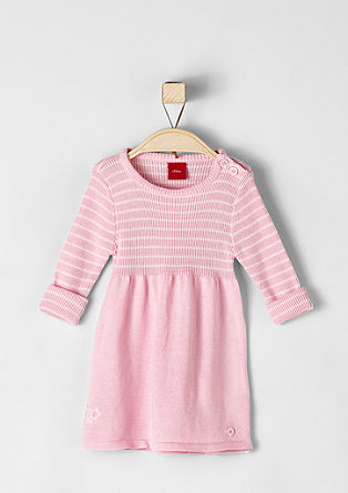 Gebreide jurk met strepen