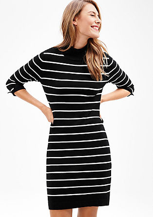 Gebreide jurk met turtleneck