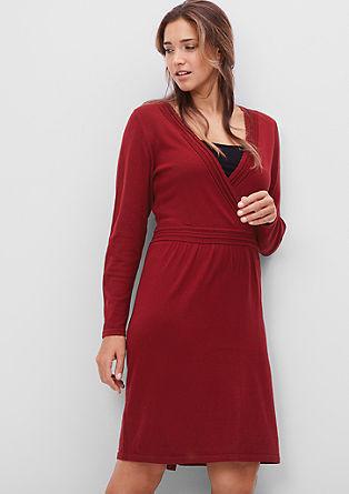 Gebreide jurk met wikkellook