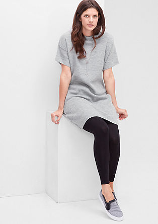 Gebreide jurk van gemêleerde wol