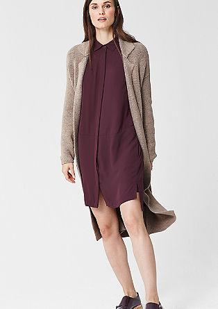 Gebreide mantel met een wollen look