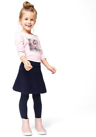 Gebreide rok met een geplisseerde look