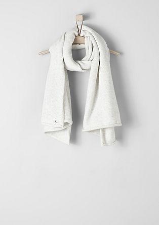 Gebreide sjaal met een gemêleerde look