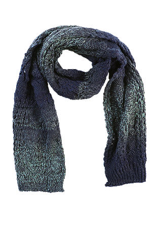 Gebreide sjaal met kleurverloop